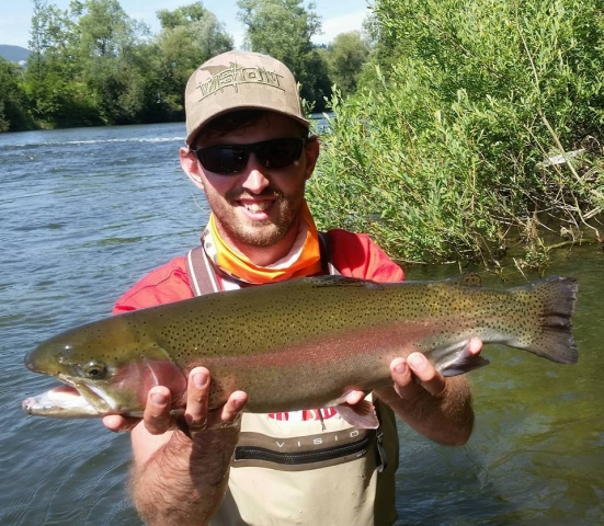Vah River Slovakia and big rainbow trout - no kill zone