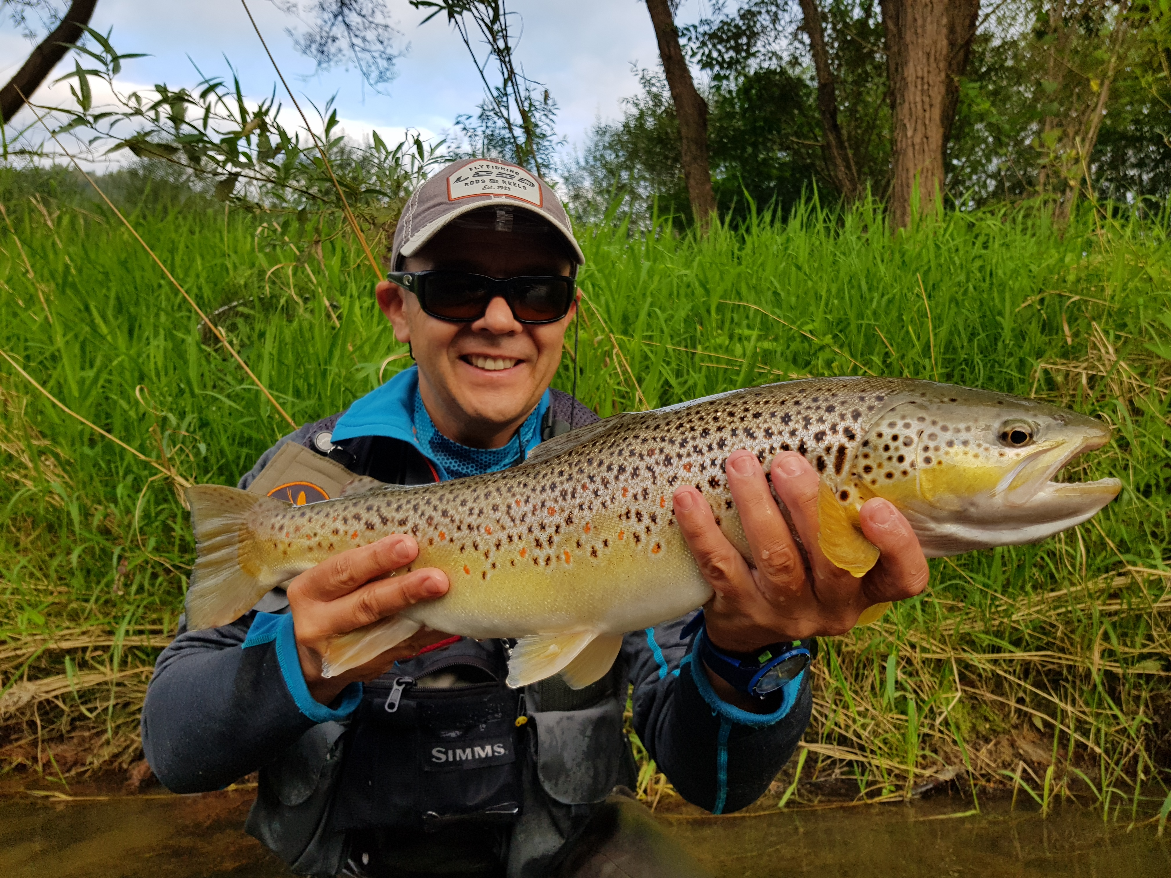 Beauty from Dunajec River, cought on streamer.  Small marabou olive leech