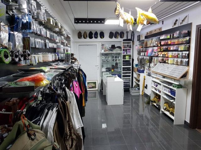 fly fishing shop in our lodge, you can get any equipement you need