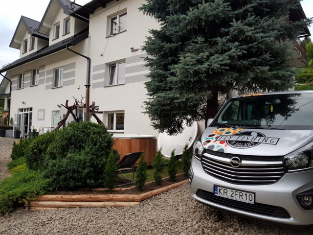 Safe transport in comfortable VAN Fly fishing in Poland