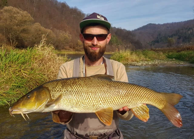 Maciek - fly fishing guide in Poland with nice fish