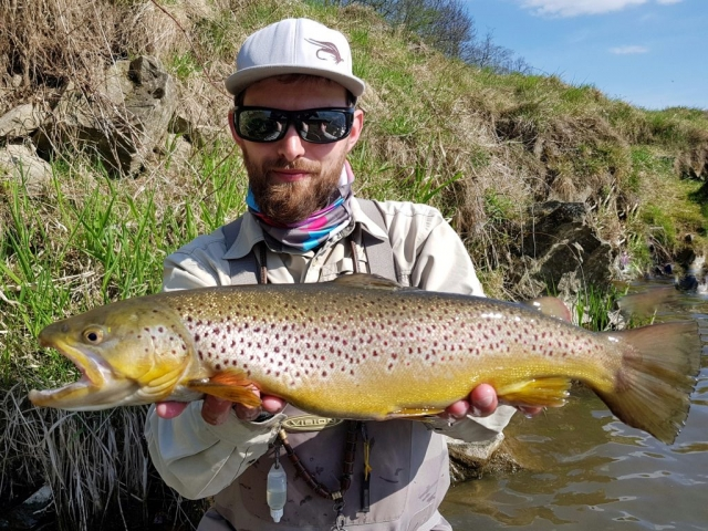 Sunny day and good fishing time for Brown Trout
