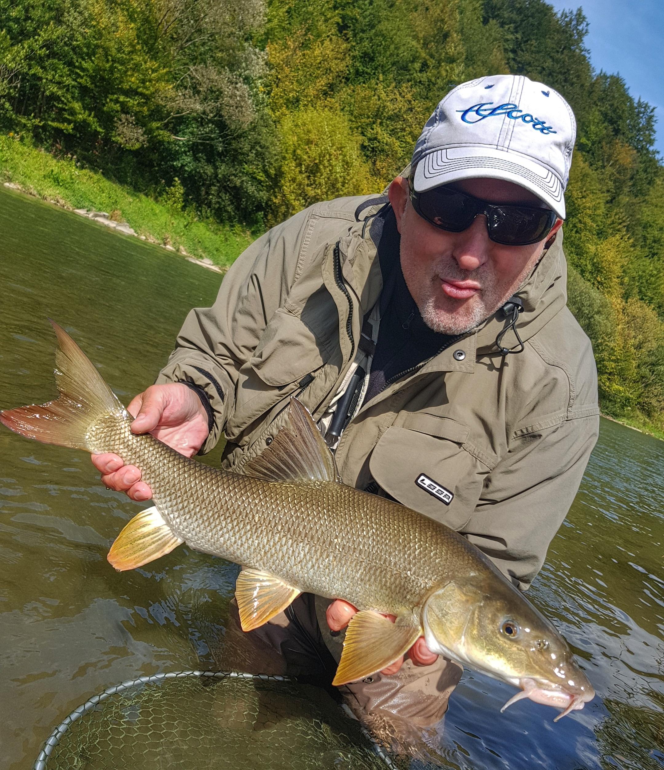 Loop equipement fishing for barbel. Poprad River - Poland