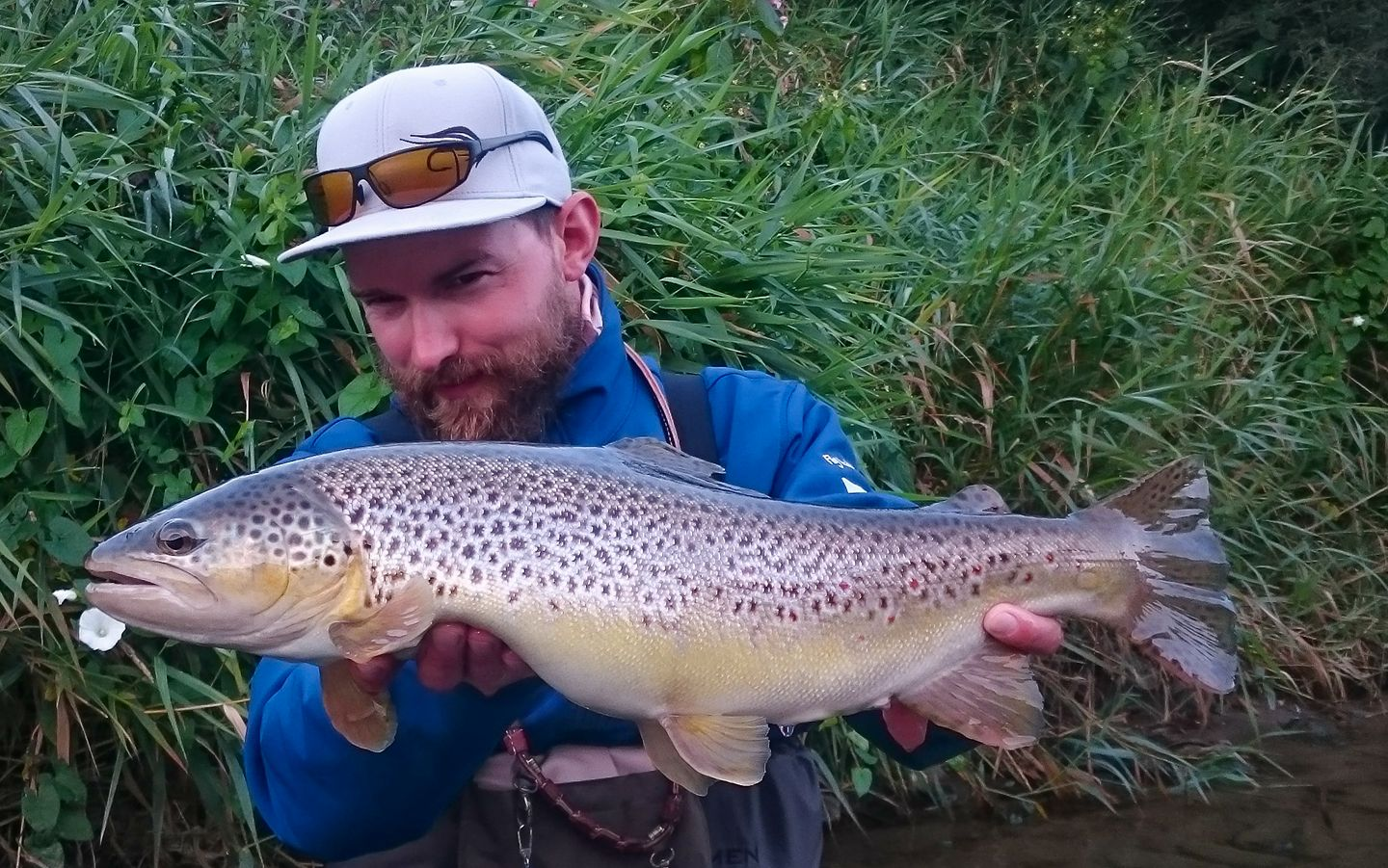 Last day of the season - nice catch. Fly fishing guide Poland