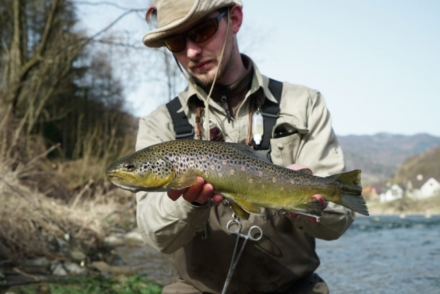 South Poland wild river fishing - the best river in Poland