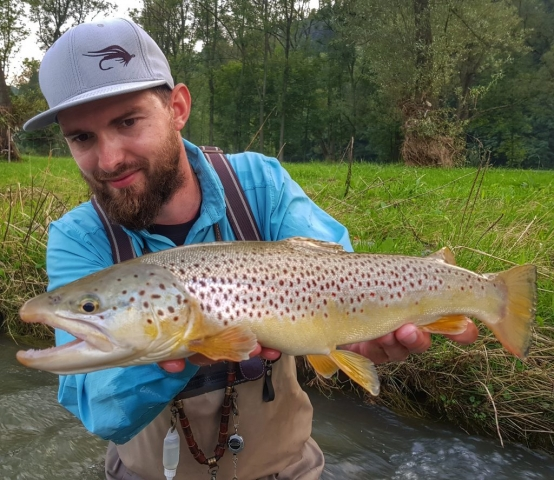Streamer fishing in Poland - fishing trip with guide