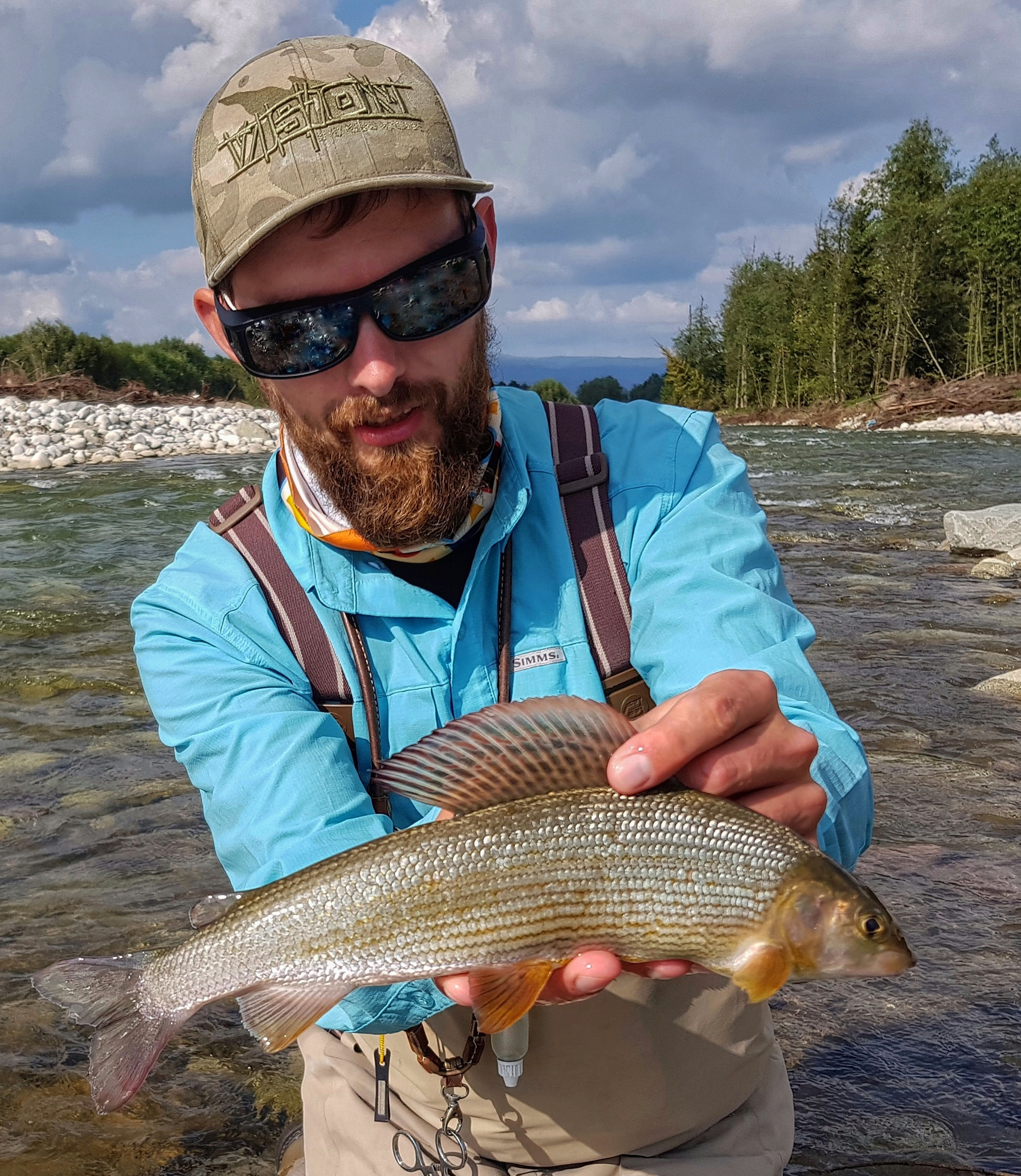 Wild Grayling and brown trouts from Bialka River