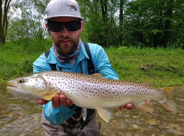 River fishing - no kill area Dunajec Poland