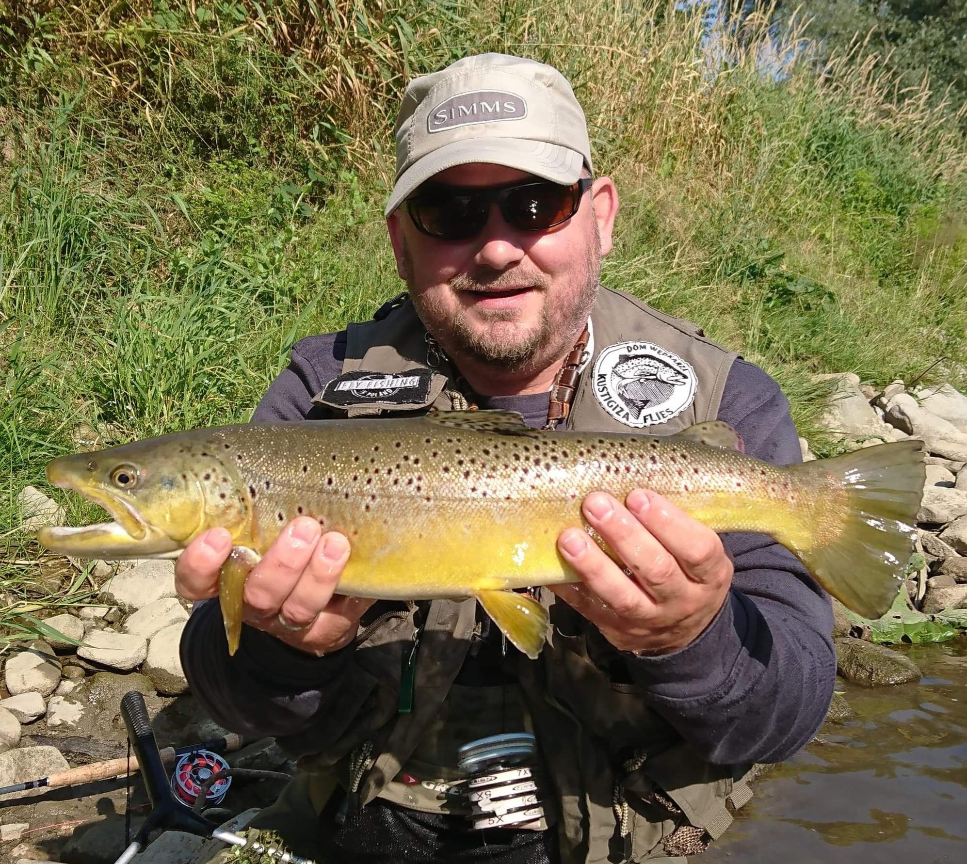 My friend From Belgium Fly Fishing - Great Angler Peche à la mouche en Pologne