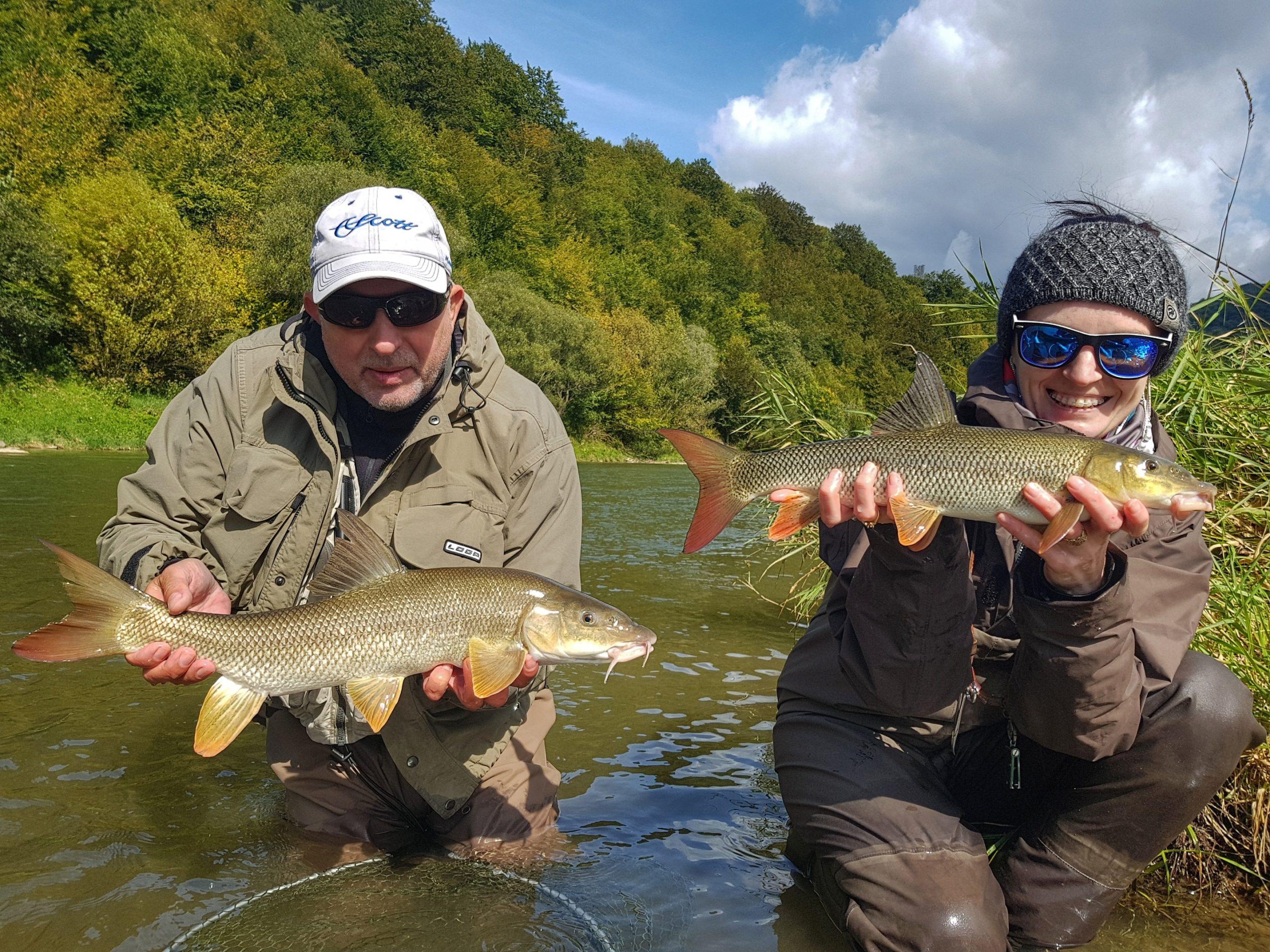 Two nice fish - Poprad River - border Poland - Slovakia