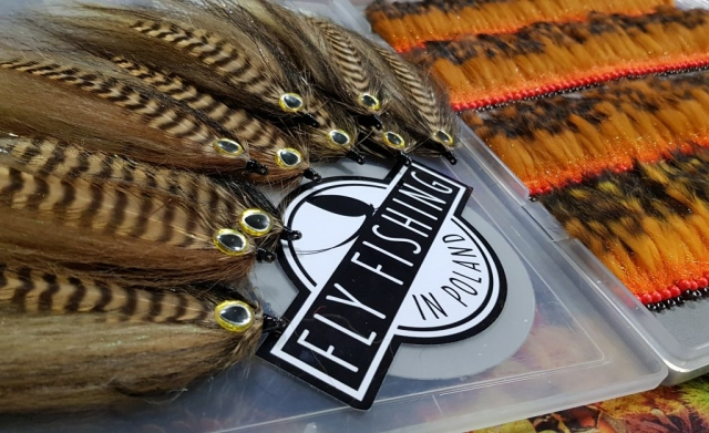 Streamers set, trout, Danube Salmon,Orange streamers for trout, brown streamer for Hucho-hucho