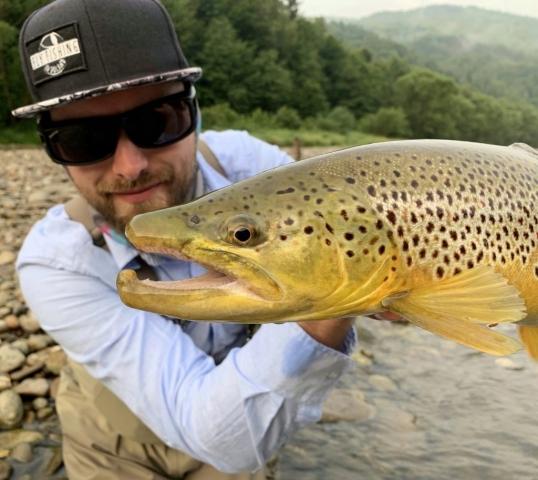 BEAUTIFUL Brown Trout from the Dunajec River Fishing trips EU