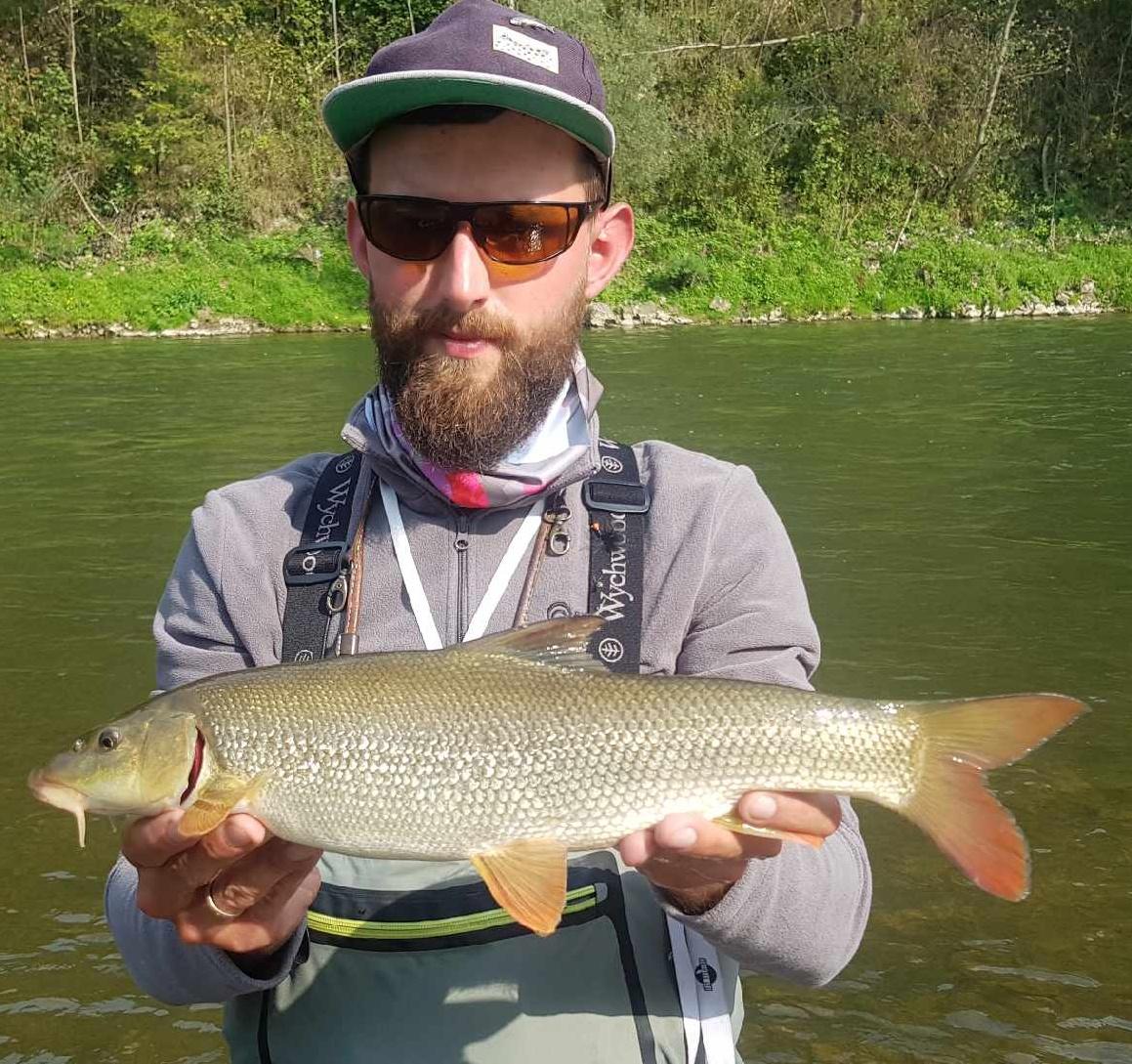 Small barbel - Poland Fly Fishing Dunajec River