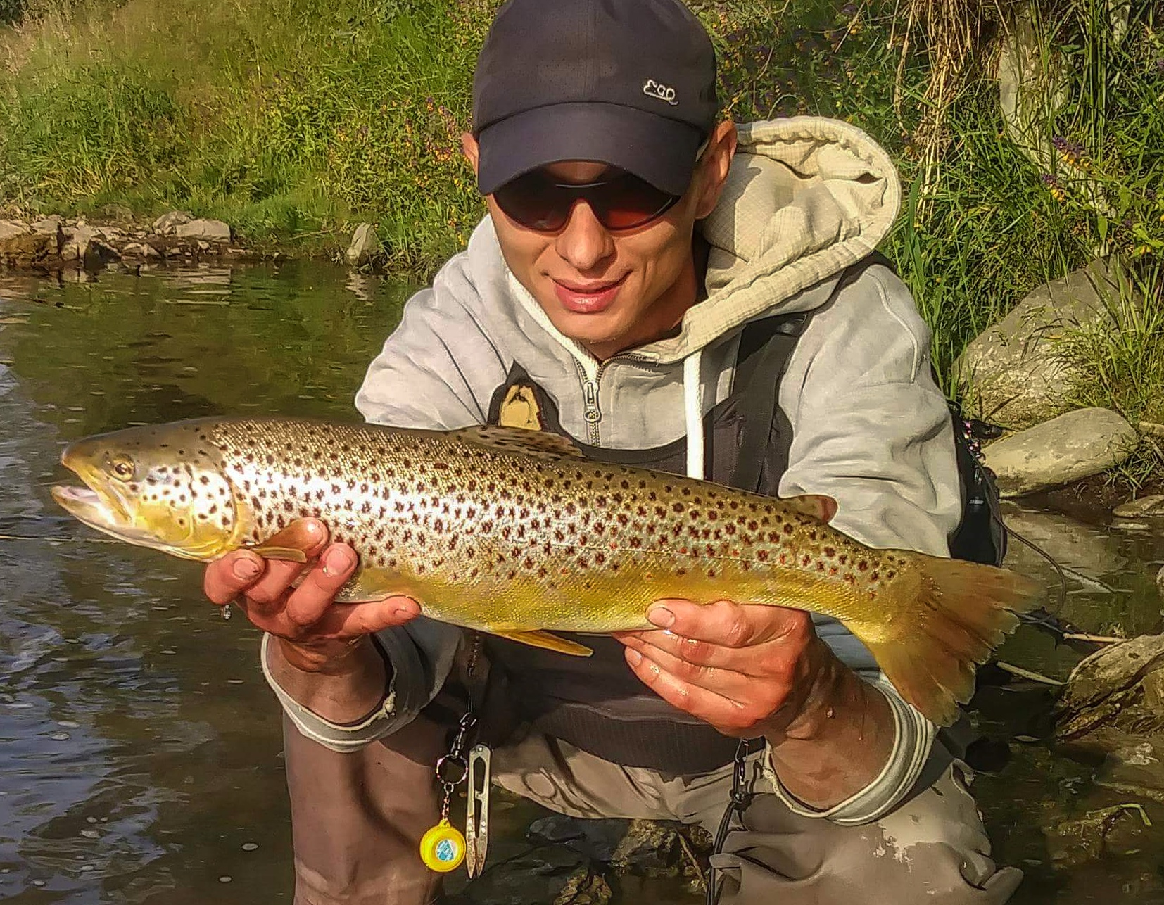 EGO fishing Fat Brown Trout fishing in Poland