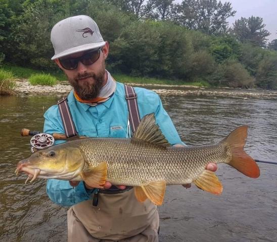 Ego Nymph rod 11ft #4 barbel from Poprad River Poland Slovakia