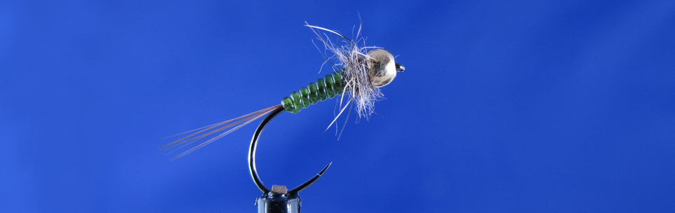 Small nymph a la perdigon fly, Hanak hooks, Hends body glass