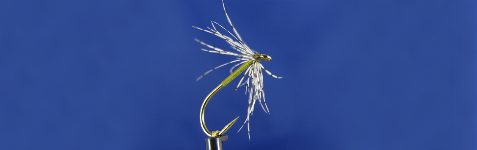 Olive spider the best for trout fishing, Akita hook, partringe hackle, olive thread UV Deer Creek