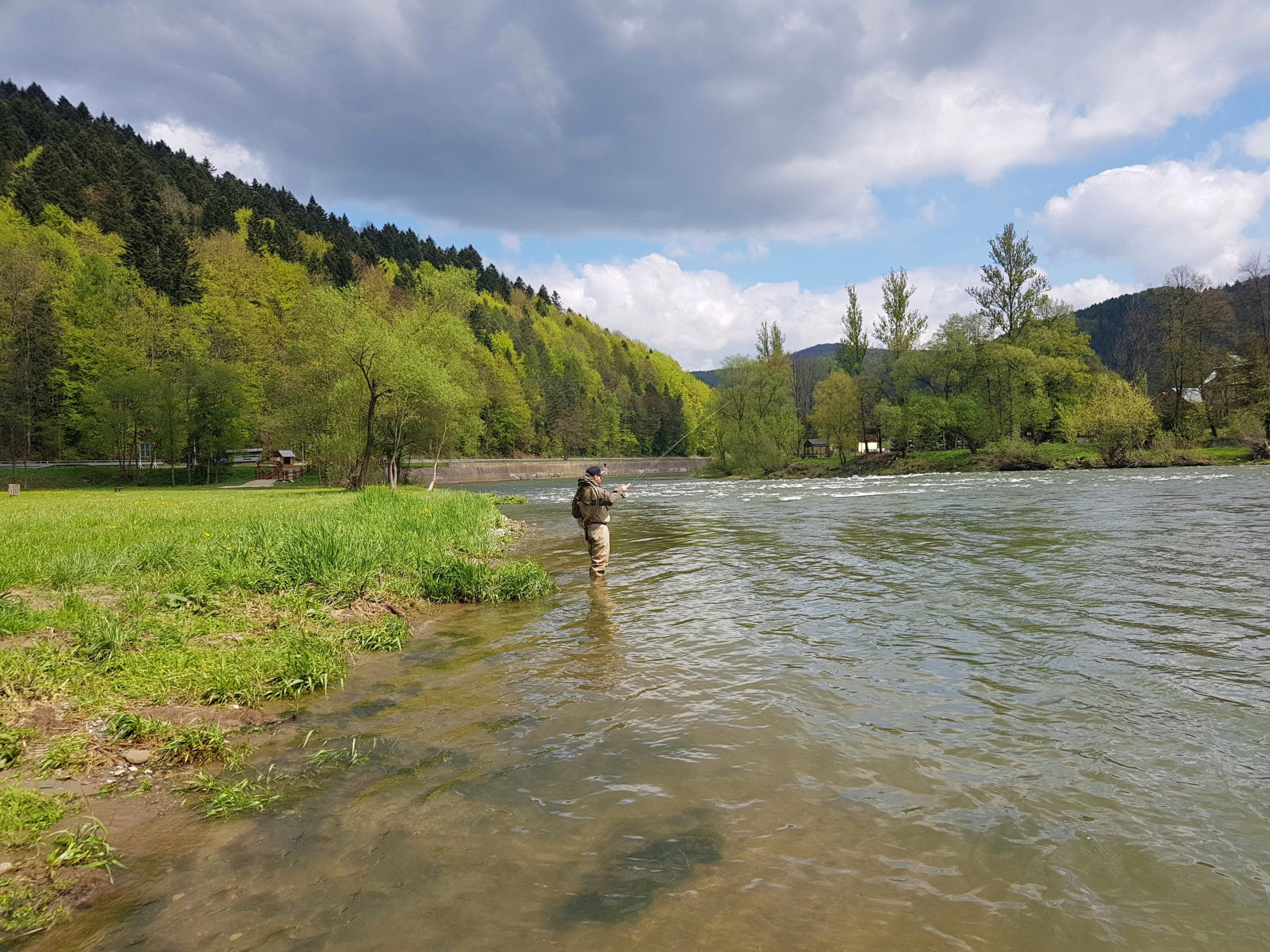 Higher water is perfect fo Czech Nymph method
