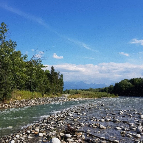 Tatry Mountains -  thats where the river starts.