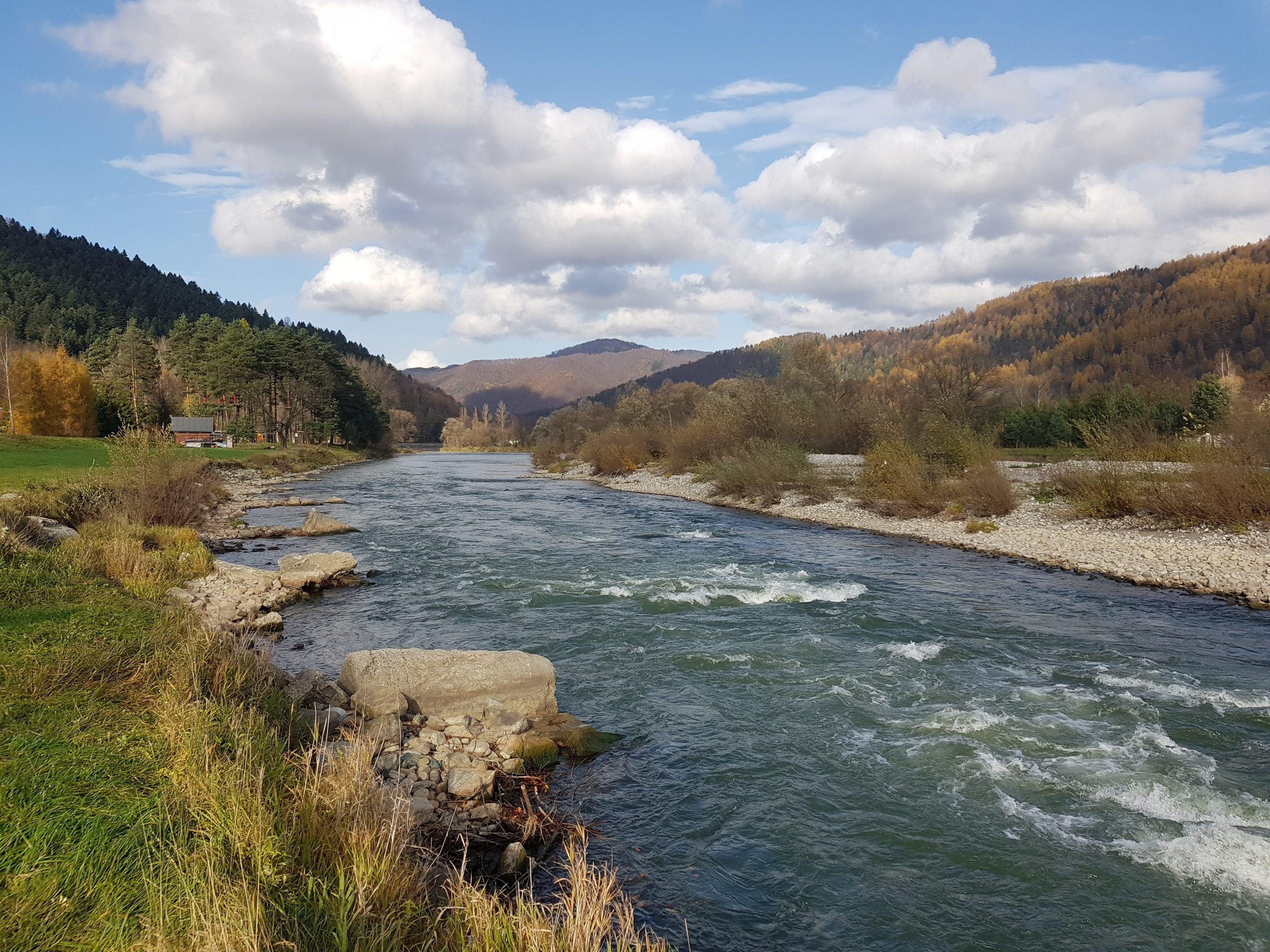 Kayak spot, no-kill area for trout, grayling, Danube Salmon Fly fishing