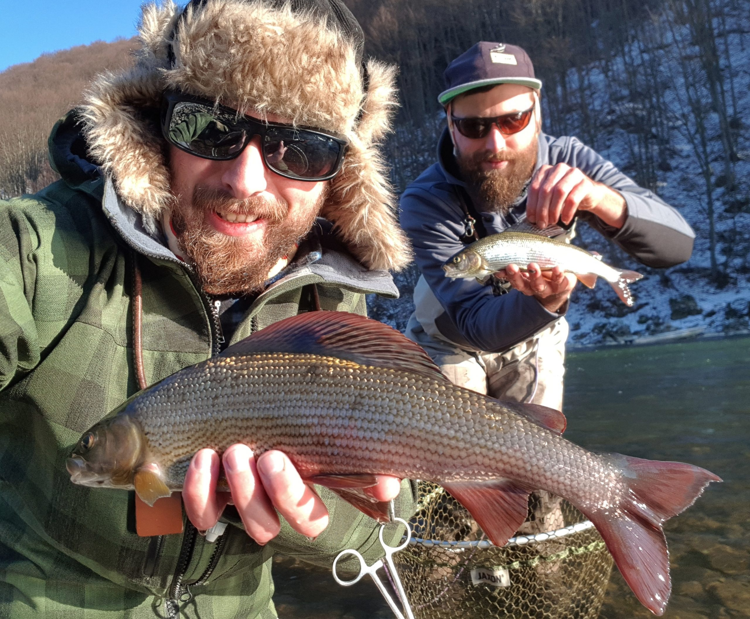 Catch & release zone with many graylings. Fly fishing in Poland