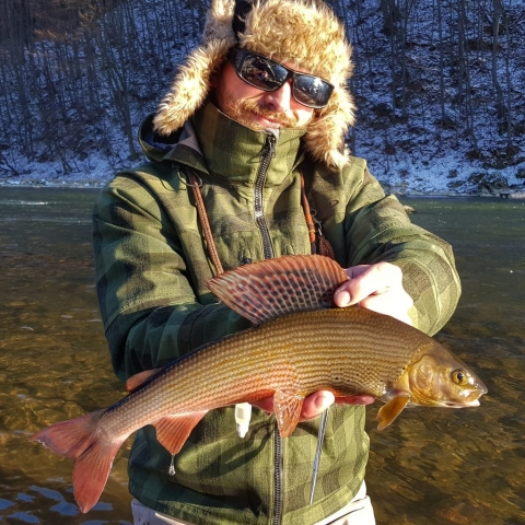 Winter fishing for Grayling - small nymphs & dry fly