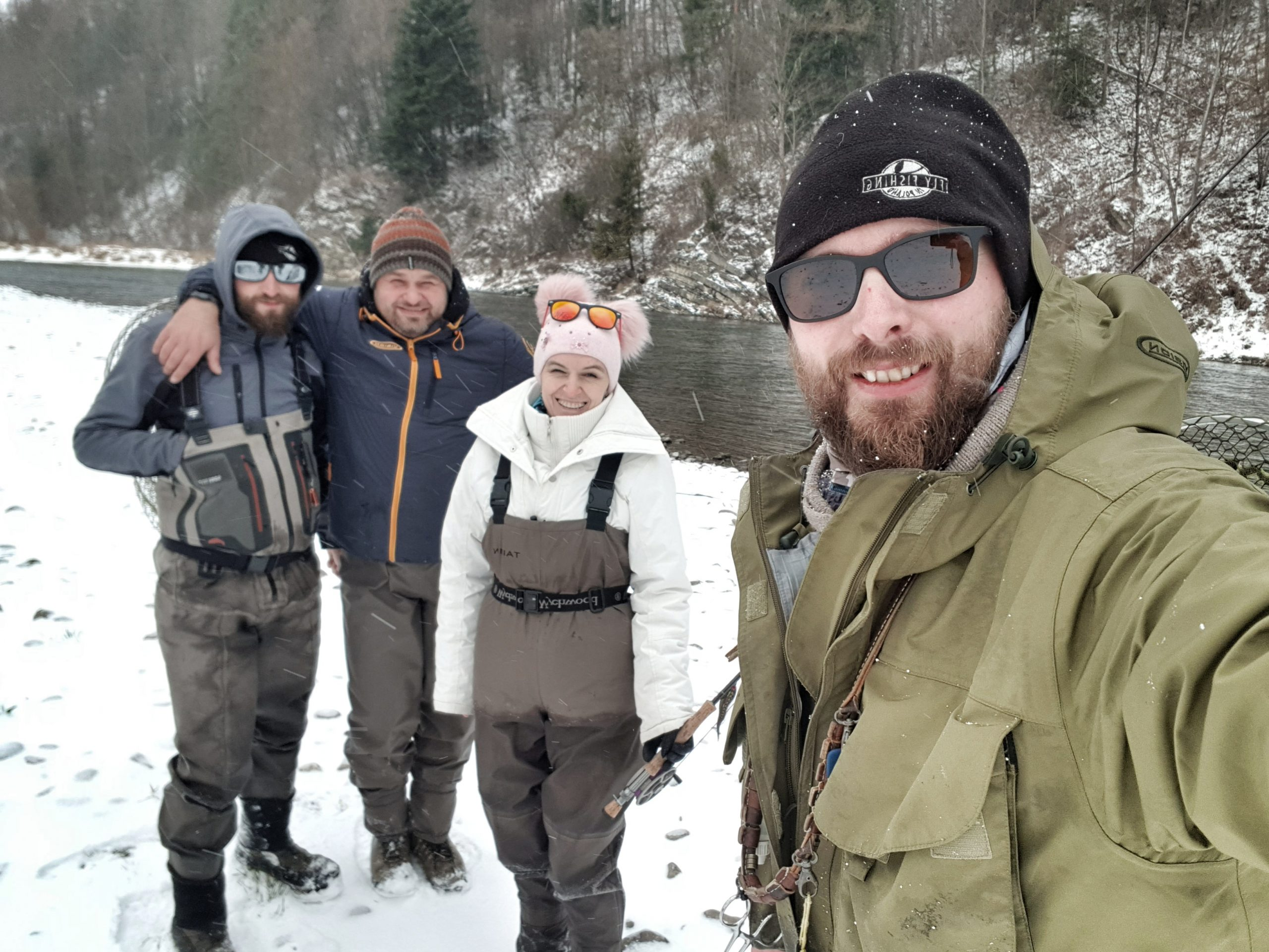 Winter fishing in Poland