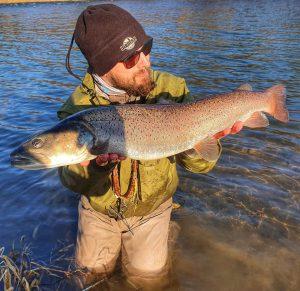 Winter streamer fishing.