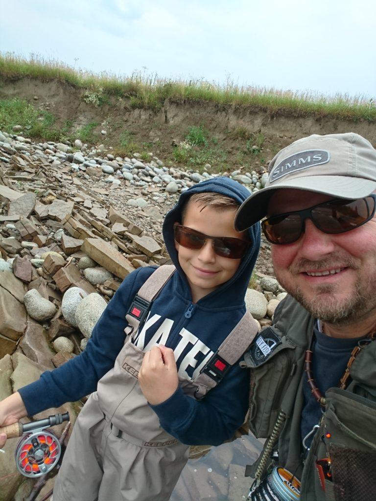 Fly fishing z synem…